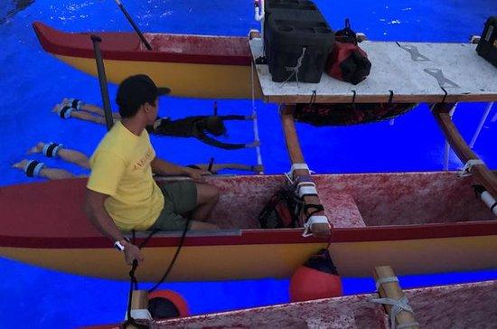 Canoë de nuit Canoe Outrigger hawaïen...
