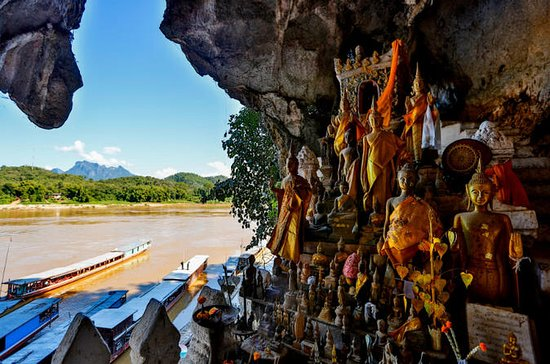 Bike to Pak Ou Caves and boat trip back to Luang Prabang City full day