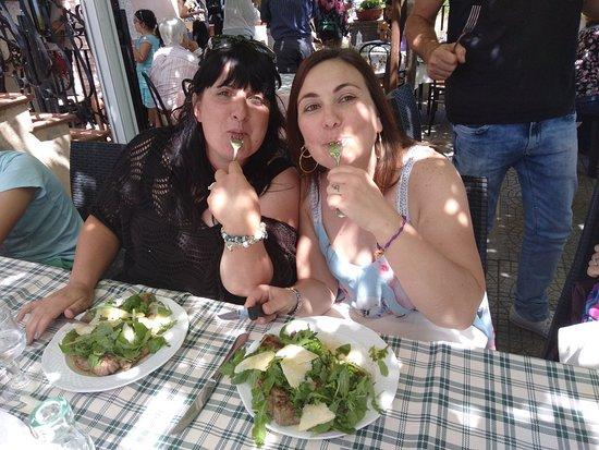 Allumiere, Italy: Tagliata rucola e grana