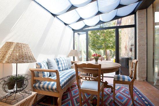 Castel Ritaldi, Italia: Suite Nr. 5, Essen im Wintergarten