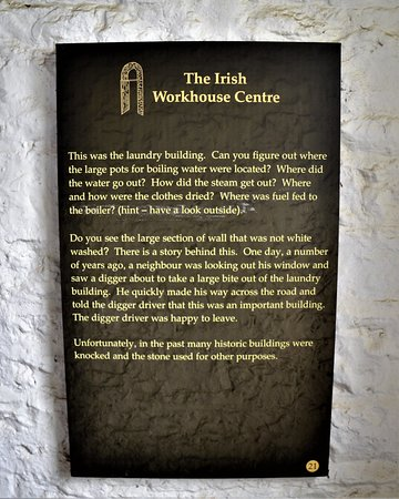 The Irish Workhouse Centre: Information on walls