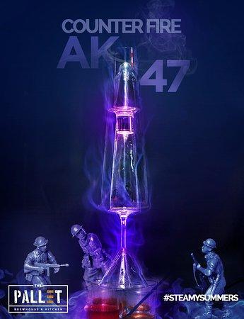 Bangalore District, India: AK 47 Counter Fire Shot @ The Pallet