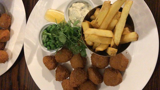 Great Totham, UK: Dinner scampi and chips