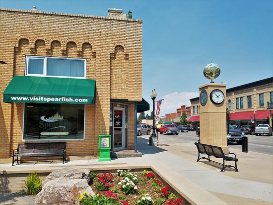Spearfish, Dakota du Sud : Located on the corner of Main St. and Hudson St.