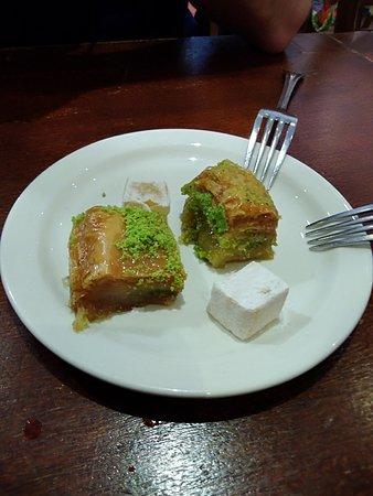 Likya : Baklava for dessert (complimentary)