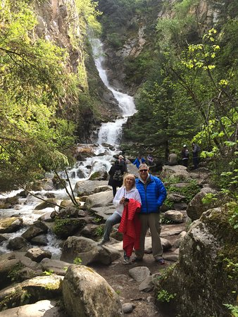 3-Hour Scooter Tour of Skagway, Alaska: Chase showed us some beautiful scenery and this amazing waterfall!