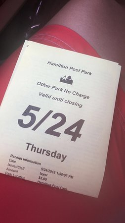 Hamilton Pool Preserve: Parking Pass for the Day...