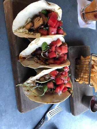 Heist Brewery : Pork-Belly Tacos