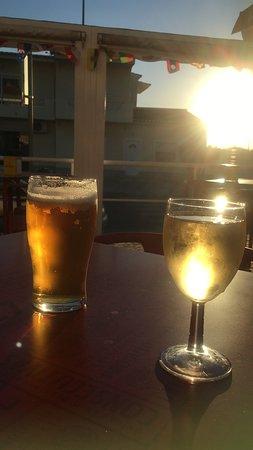 Great bar in the sun