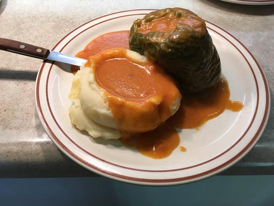 Pekin, IL: HANDMADE Stuffed Pepper with HOMEMADE gravy! It comes with two sides and a roll!