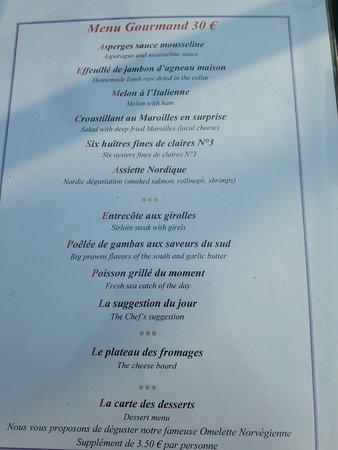 Holnon, Francia: Menu à 30€