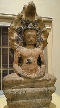 Lopburi Province, Thailand: crowned buddha sheltered by Naga's hood