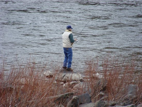 Lucile, ID: Fishing on the Salmon RIver