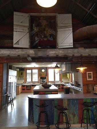 The communal kitchen - we had fun in here!