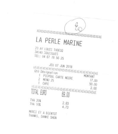 La perle marine: Une de nos notes pour le menu à 25€
