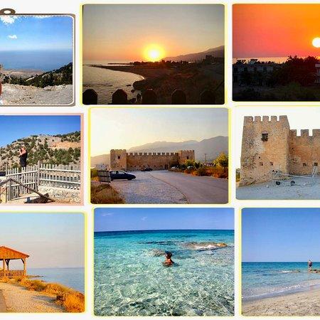 Frangokastello, Grecja: På sørkysten ligger Frangokasello, stranden og solnedgangen er bare helt magisk. Flott gammelt V