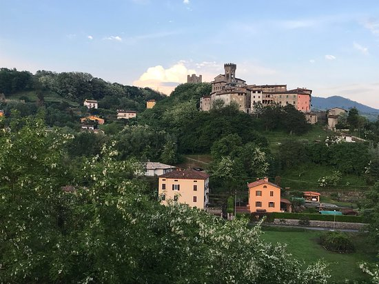 View of the Castle at Ghivizzano from our room.