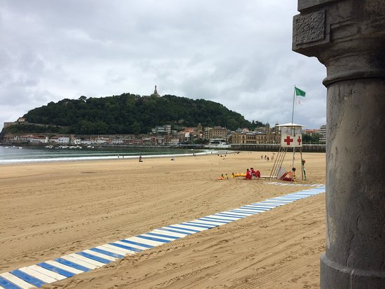 Hotel Niza: Der Strand unterhalb der Promenade