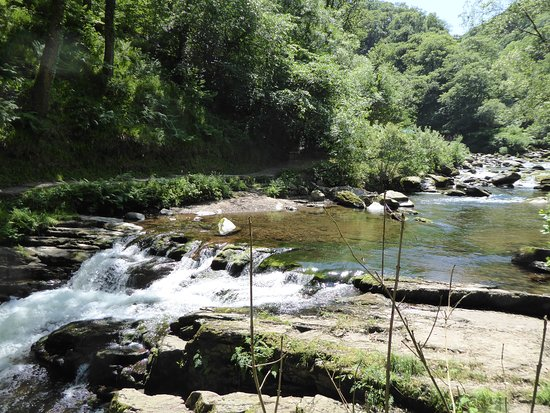 The Denes: River Lyn at Watersmeet