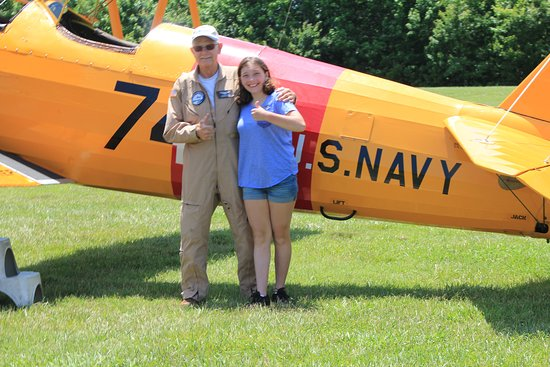 Military Aviation Museum: Madeline and her pilot Nelson Eskey