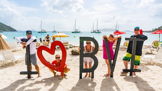 Paradise Club Sports Bar and Grille: I <3 BVI sign right out front