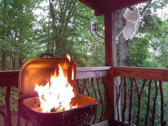 Cullowhee, NC: Grilling on the porch