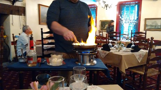 Womelsdorf, Пенсильвания: Bananas Foster, flambeed at your table