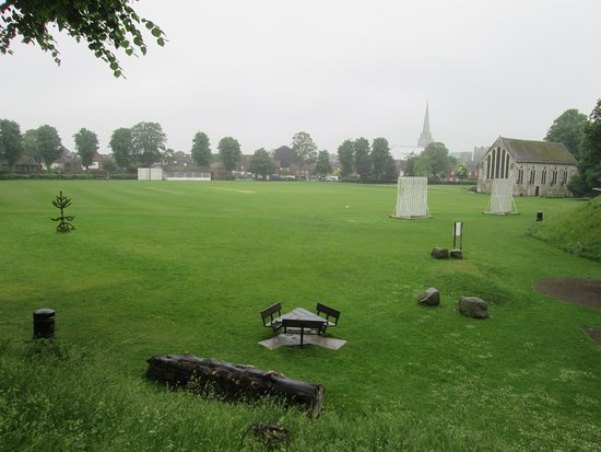 Chichester City Walls: Overlooking Priory Park from the City Walls