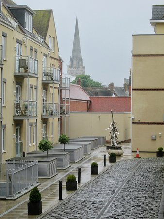 Chichester City Walls: The new and the old from the City Walls