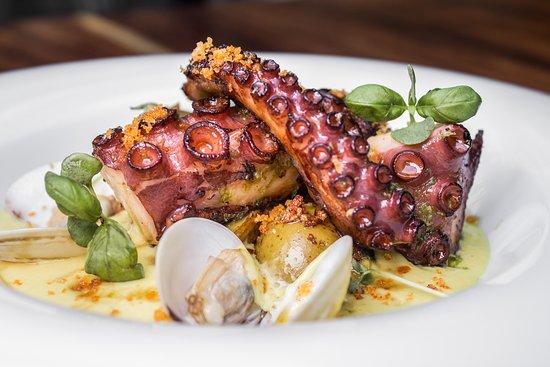 Carbón Ardiente; Seared Octopus.