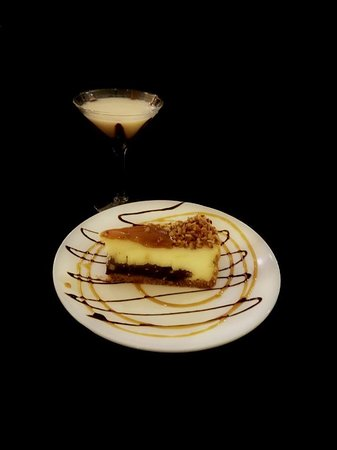 Delavan, WI: Turtle Cheesecake with a Chocolate Martini