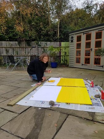 Boxgrove, UK: The paintings are half way there!