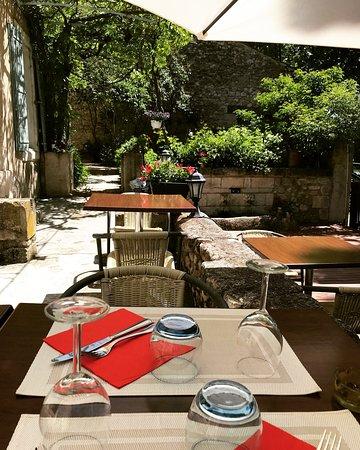Reillanne, France: Terrasse