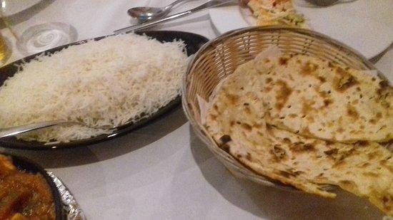 Indian Restaurant: arroz y pan