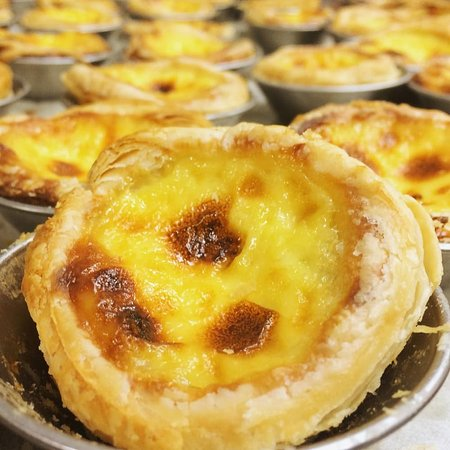 Monterey Park, CA: Portuguese egg tarts - fresh out of the baking mold