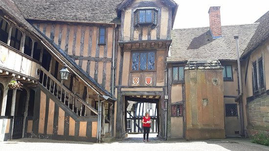 Lord Leycester Hospital: View of the inner courtyard of Lord Leycester's hospital