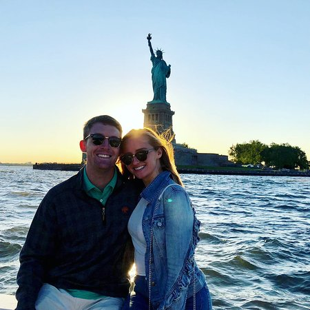Liberty Is Lovely Lady >> I Mean Look At The Sunset And The Lovely Lady Liberty Picture Of