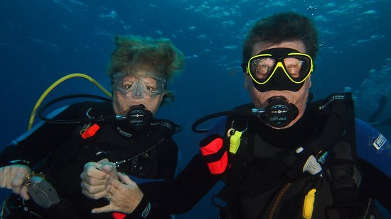 Lahaina Divers: The wife and me doing our thing!