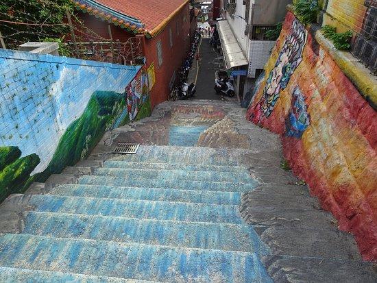 淡水福佑宫3D彩绘意象阶梯