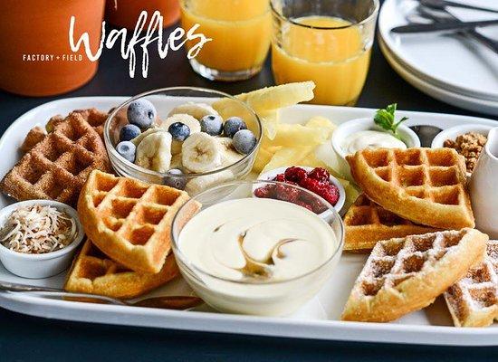 Cohuna, ออสเตรเลีย: Yummy waffle platter!!