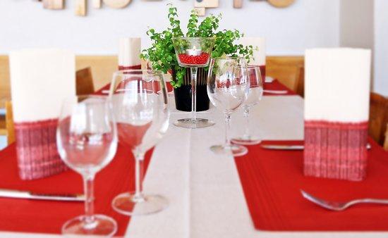 Flums, Switzerland: Gedeckter Tisch