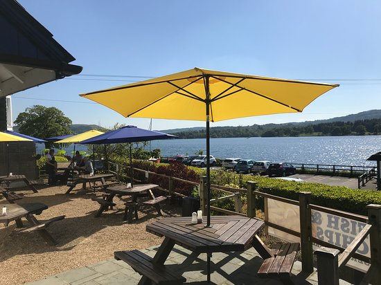 Ambleside Fish and Chips: View from outside seating