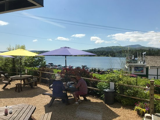 Ambleside Fish and Chips: View from outside seating area