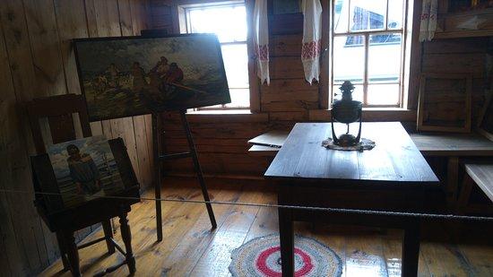 """Shiryaevo, Rusia: Музей И.Е.Репина, комната, в которой написан """"Шторм на Волге"""""""