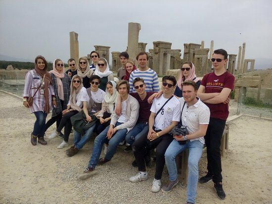 with my Polish tourists in Persepolis in Shiraz