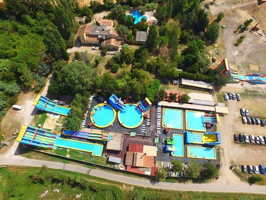 les piscines vue de haut