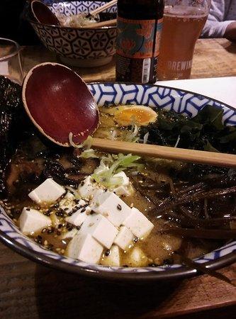 Koku Kitchen Ramen: vegan ramen + exrta egg