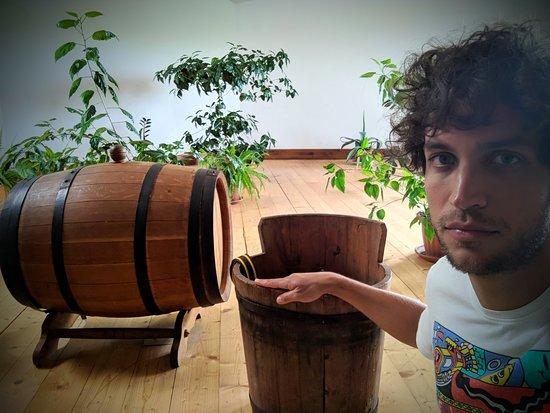 "Our Budapest: This is a ""gönci barrel"" and a ""puttony"". To find out what they're used for join our Tokaj wine"