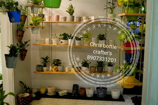 Chris Bottle Crafters Indoor Home Garden Inside One Side View