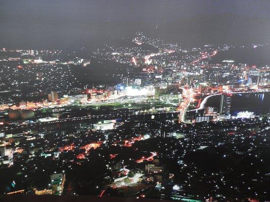 Monte Inasa: Nagasaki at night , from mt inasa
